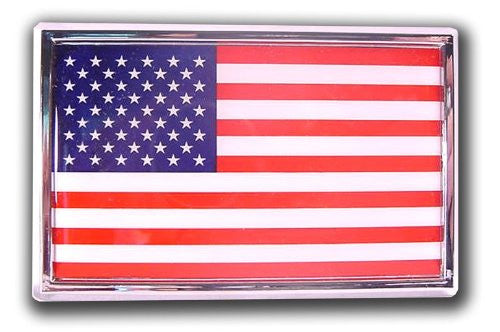 Flag Chrome Auto Emblem (USA - SUV size)