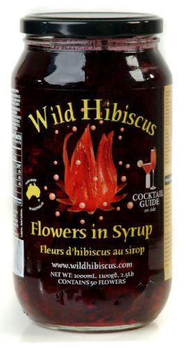 Wild Hibiscus Flowers in Syrup (Large event 50 flower 2lb jars)