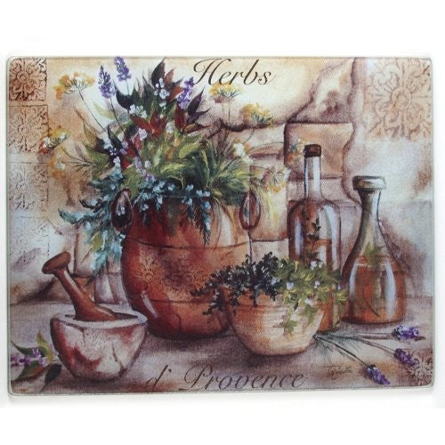 Herbs & Oil Provence counter saver 12x15""