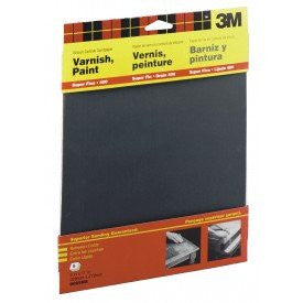Sandpaper Super Fine 9 in x 11 in 5/Pk