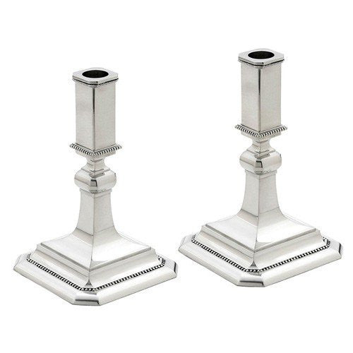 "Heritage Banded Bead 2-piece 7"" Candlestick Set"