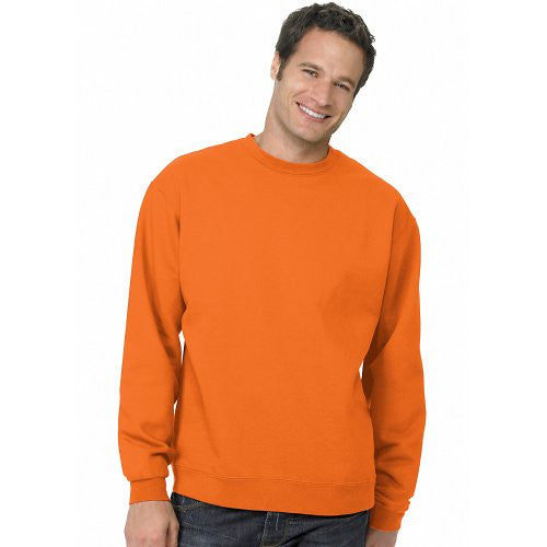 Hanes ComfortBlend Long Sleeve Fleece Crew - p160 (Safety Orange / Large)