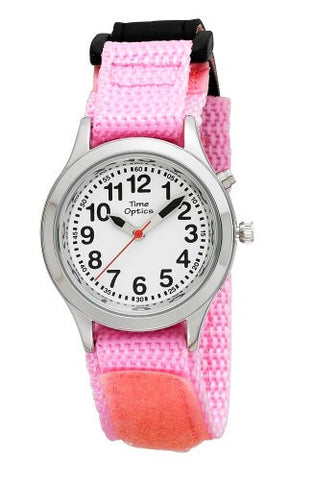 Youth/Unisex Pink Velcro Strap Talking Watch
