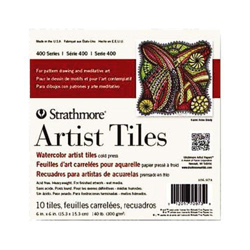 "Strathmore Watercolor Artist Tiles 6""X6"" 10/Pkg - Cold Press"
