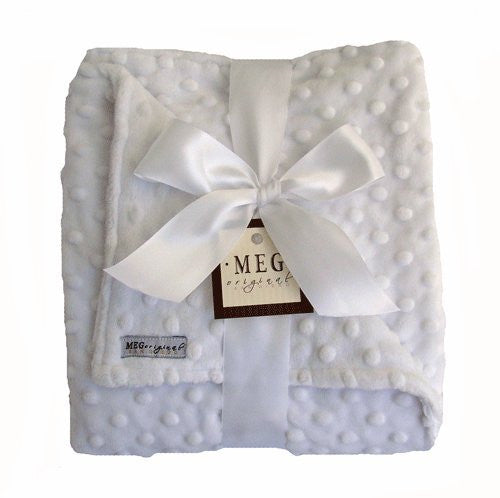 White Minky Dot Baby Blanket