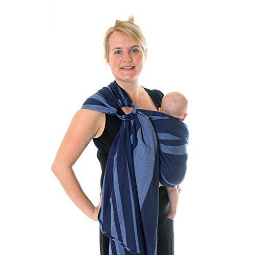 Ring Sling Baby Wrap, Azur (Size 1: 185cm Small - Medium)