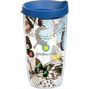 Smithsonian - Butterfly Collage Wrap with Lid 16oz Tumbler