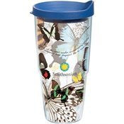 Smithsonian - Butterfly Collage Wrap with Lid 24oz Tumbler