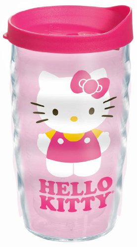 Hello Kitty in Pink Wrap with Lid 10oz Wavy