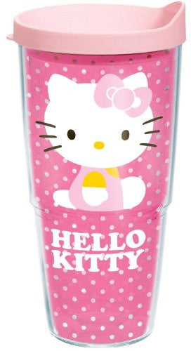 Hello Kitty Dots Wrap with Lid 24oz. Tumbler