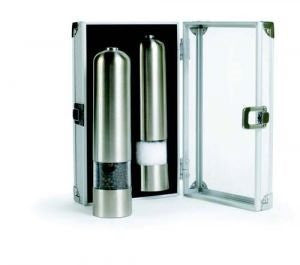 Grand Cuisine Electric Pepper/Salt Mill Duo Set, Stainless Steel
