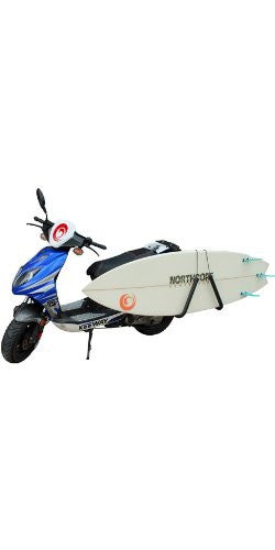 Moped Surfboard Carry Rack