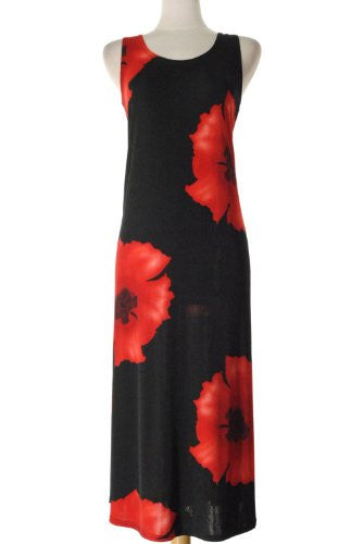 BNS Long Tank Dress Sleeveless - Red, X-Large