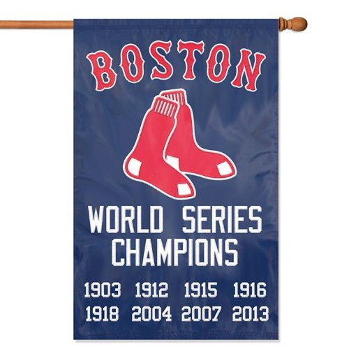 "Boston Red Sox Championship Applique Banner Flag (44"" x 28"")"