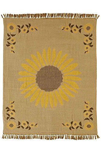 Sunflower Woven Throw Jacquard Weave 50x60""