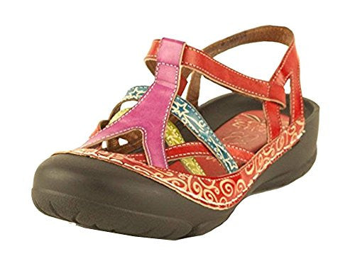 River Bumped Toe w/ Heel Strap Women's Sandals - Red (Size 11)