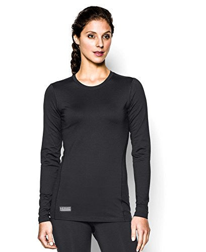 UA Women's Coldgear Infrared Tactical Crew - Black, Small