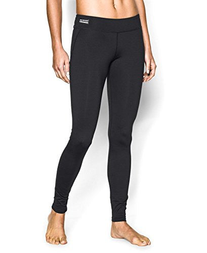 UA Women's Coldgear Infrared Tactical Leggings - Black, X-Large