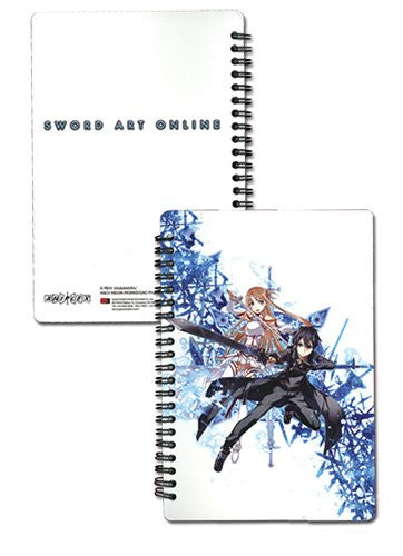 Sword Art Online Kirito & Asuna Spiral Notebook