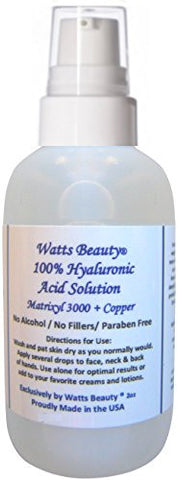 100% Pure Hyaluronic Acid Enhanced with Matrixyl 3000 & Copper 2oz Pump