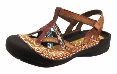 River Bumped Toe w/ Heel Strap Women's Sandals - Amber (Size 6)