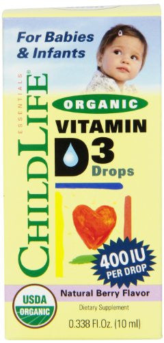 Child Life Essentials Organic Vitamin D3 for Babies and Infants