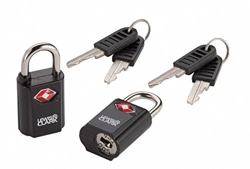 Travel Sentry Mini Padlock Set, 2-Pack, Black