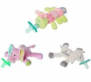 WubbaNub Pacifier (Ella Bella Elephant, Cutsie Caterpillar and God Bless Lamb)