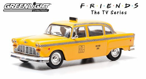 Greenlight Friends TV Series - Phoebe Buffay's 1977 Checker Taxi (1977, 1/43 scale diecast model car, Yellow)