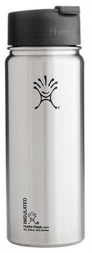 Hydro Flask - Stainless Steel Water Bottle Vacuum Insulated Wide Mouth with Hydro Flip Classic Stainless - 18 oz.
