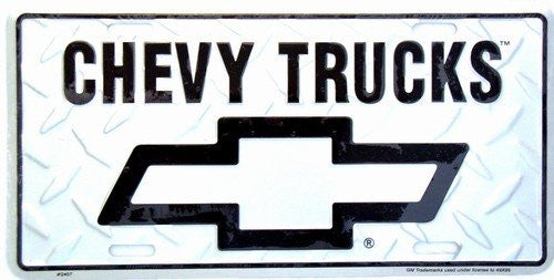 License Plate: Chevy Truck Diamond Sign (6x12)