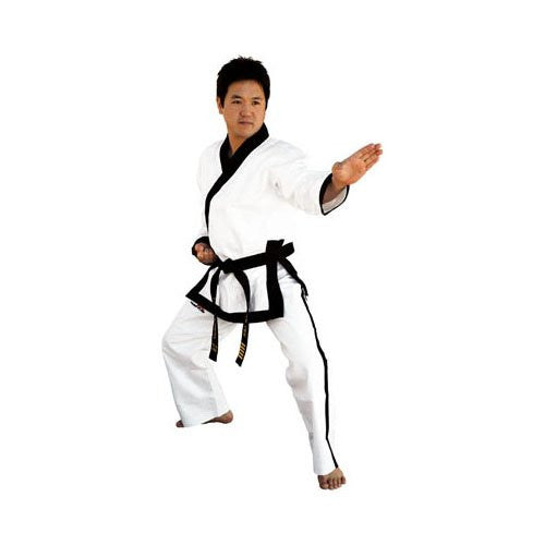 Elite Master's Black Trim Uniform, Size 2, 115lbs 5'2""