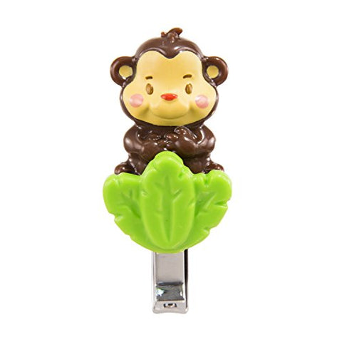 Sassy Soft Grip Nail Clippers - Monkey