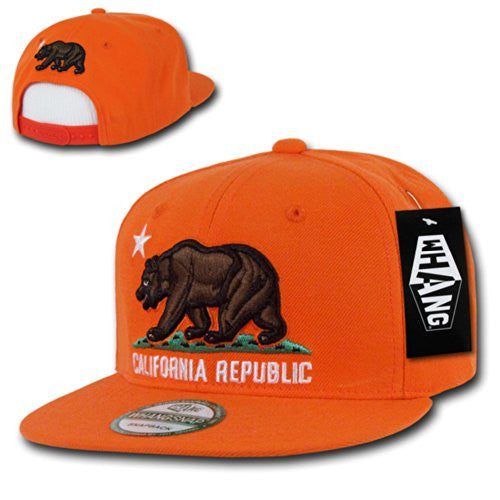 Cali Bear Classic Snapback, Orange