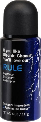 Designer Imposters Rule 4oz Deodorant Spray                               (Bleu de Chanel)