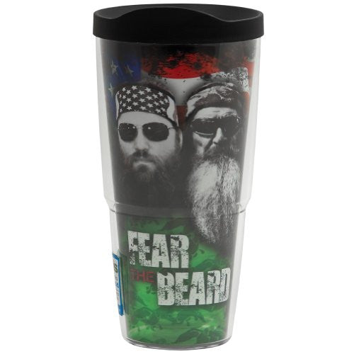 Duck Commander - Fear the Beard Wrap with Lid 24oz. Tumbler