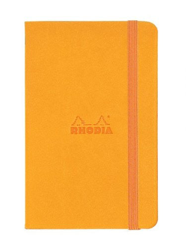 Rhodia Boutique Webnotebooks Bound 3 ½ x 5 ½ Lined Orange 96 sheets