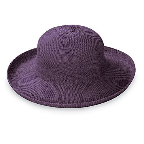 Wallaroo Hat Company Women's Victoria Straw Hat (Lilac / Adjustable)