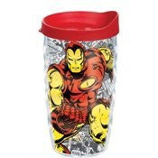 Marvel - Iron Man - Classic Wrap with Lid 10oz Wavy Tumbler