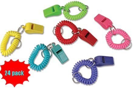 BRACELET WHISTLE KEYCHAINS - 12pcs