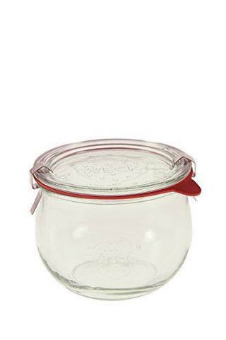½ L Tulip Jar (6 jars w/ glass lids, 6 rings, & 12 clamps)