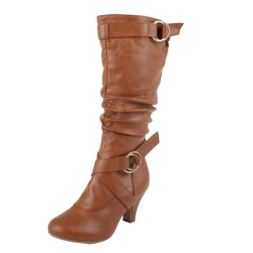 Top Moda Women AUTO-2 boots Chestnut PU (Mid-Knee) 10