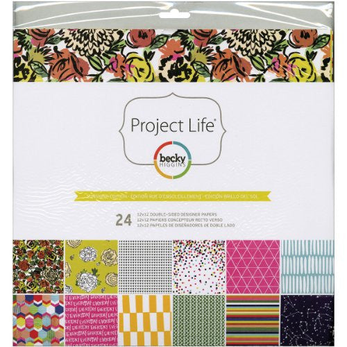 "American Crafts - Project Life Designer Paper Collection Pack 12""X12"" 24/Pkg - Sunshine Edition"