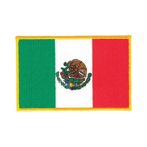 Mexican Flag Patch, 3 1/2""