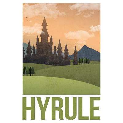 Hyrule Retro Travel Poster - 24x36