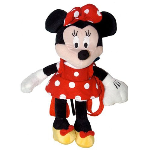 Red Minnie Mouse Plush Backpack - Disney Minnie Plush Backpack
