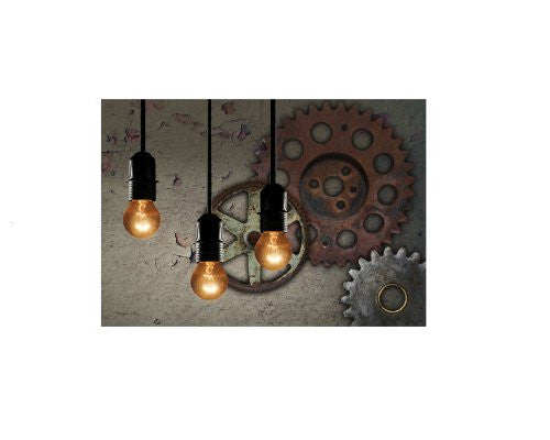 LIGHTED STEAMPUNK CANVAS (14 X 20 X 3/4)