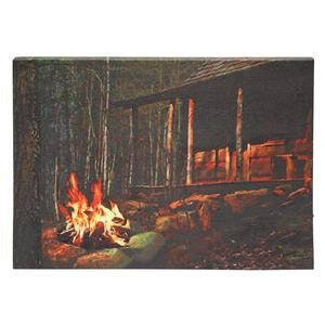 LIGHTED CAMPFIRE CANVAS (12 X 17 X 3/4)