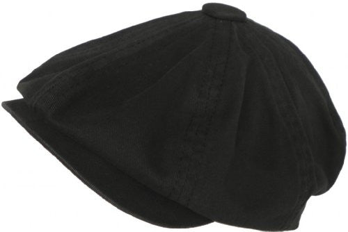 Mo' Money - Cotton 8 Quarter Cap, Black, Medium