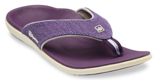 Spenco Yumi Canvas Women's, Deep Purple Size 9